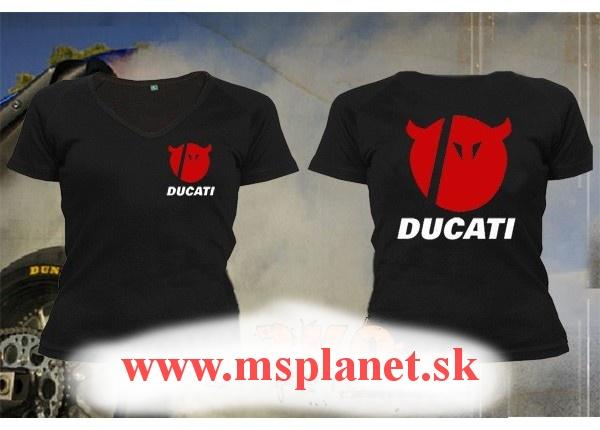 2f623d8cd53 Dámske tričko s motívom Ducati Devil