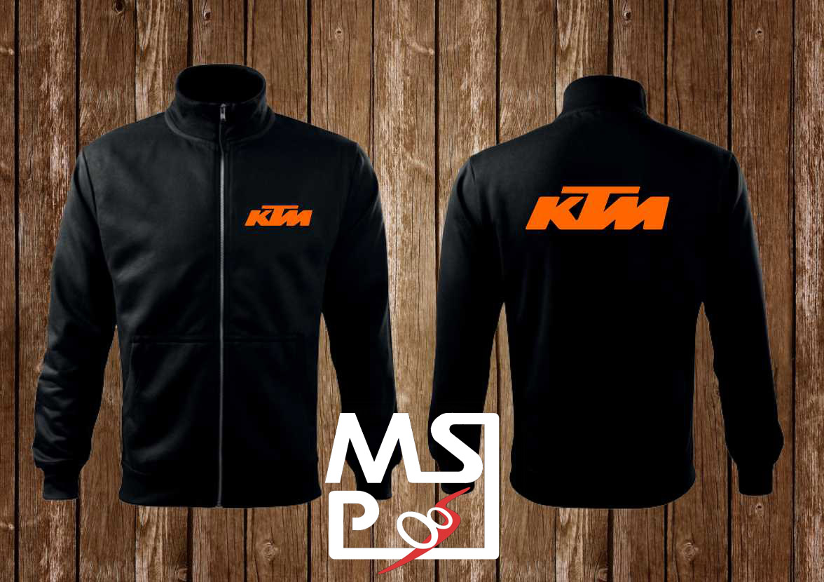Mikina MSP na zips s motívom KTM 2